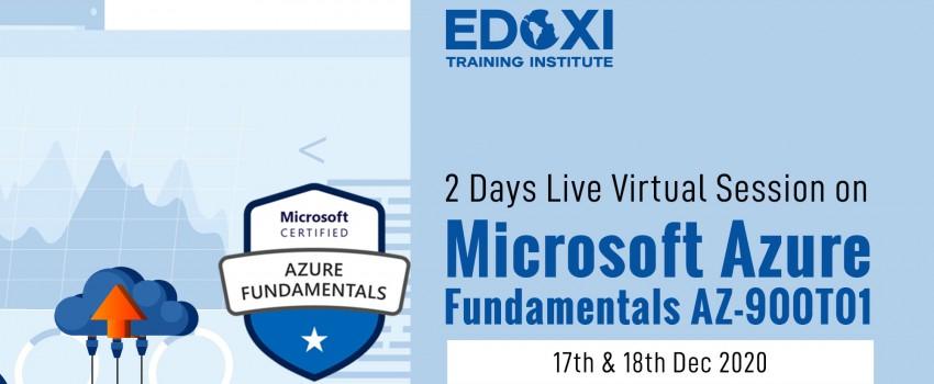 2 Days Live Virtual Session on Microsoft Azure Fundamentals AZ-900T01