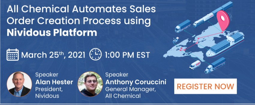 Live Webinar : All Chemical Automates Sales Order Creation Process using Nividous Platform