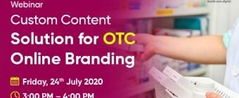 Webinar on Custom Content Solution for OTC Online Branding