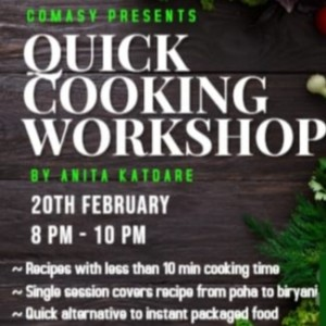 Online quick cooking workshop by Anita Katdare